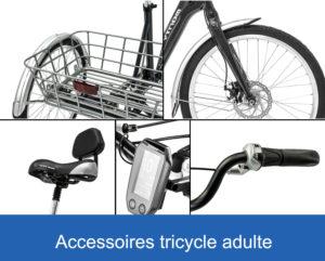 équipement et accessoires des tricycles adultes