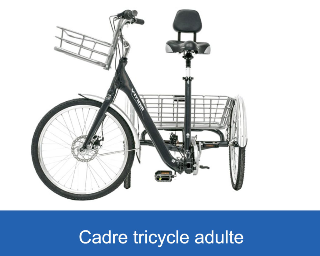 cadre d'un tricycle pour adultes