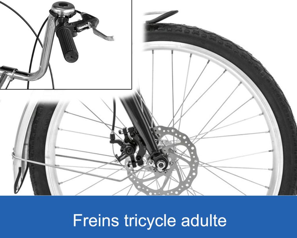 freins sur un tricycle adulte