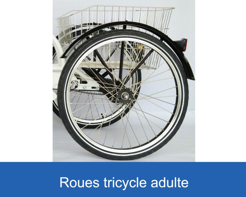 roues sur un tricycle adulte